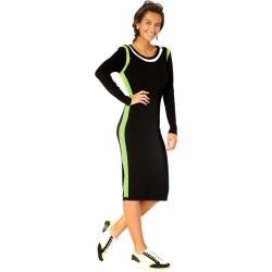 Photo of Amy Vermont, Strickkleid mit Kontraststreifen, schwarze Amy Vermont