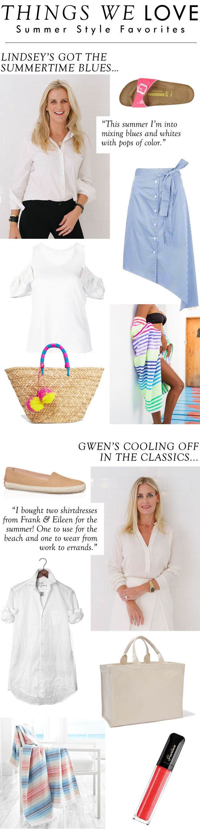 Summer fun isn't exclusive to beach days and pool parties. In fact, most of the excitement happens within our wardrobes! From playing with pops of color to mixing and matching fabric textures, check out how Gwen and Lindsey dress for summer in New York City on the blog!
