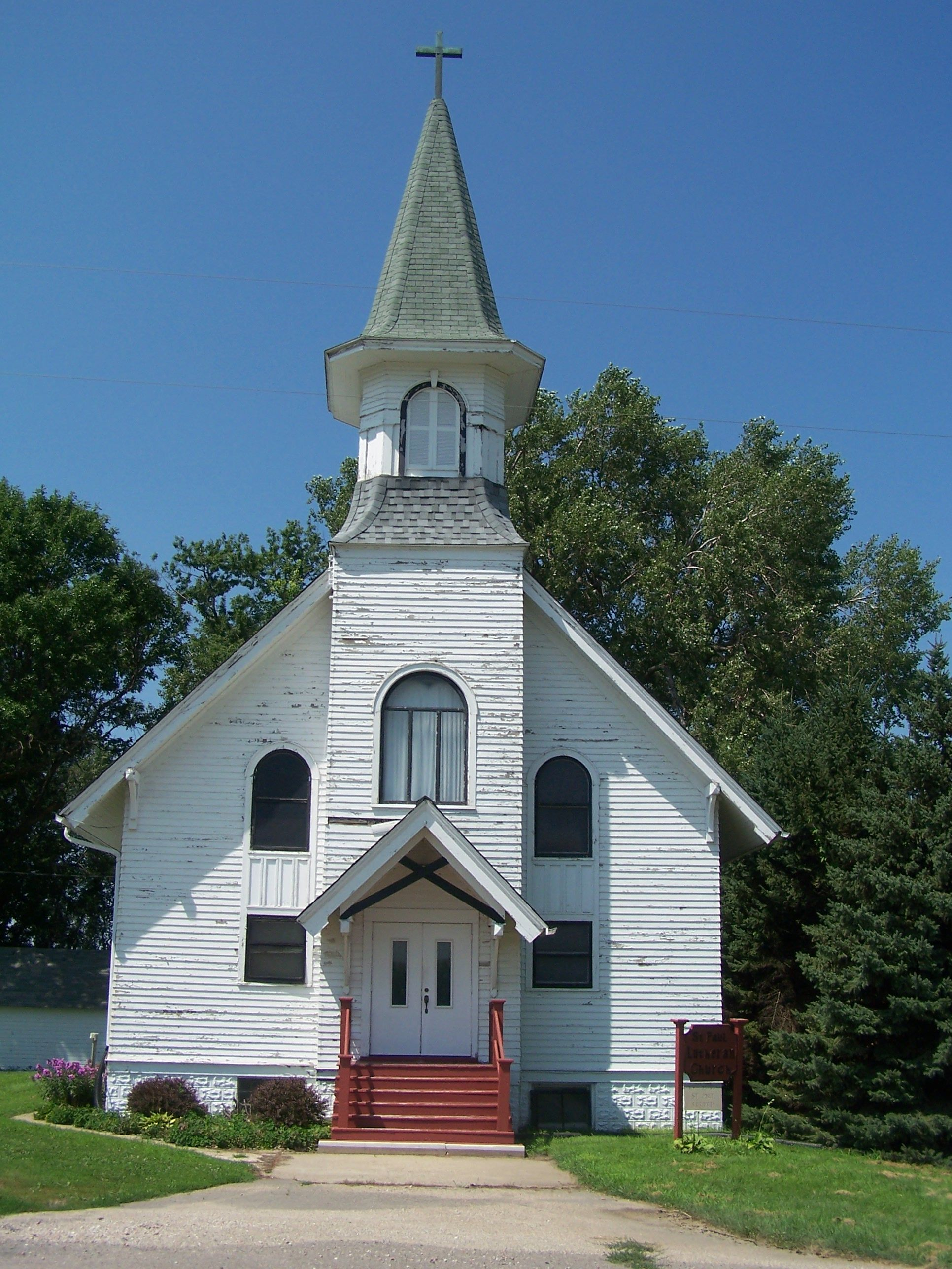 Old Fashioned Church With Steeple Black And White