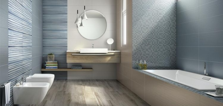 Beautiful Carrelage Salle De Bain Moderne Mosaique Contemporary