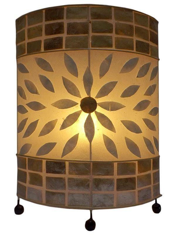 Abajur Decorativo de Mosaico Madrepérolas 40cm - Arte Bali