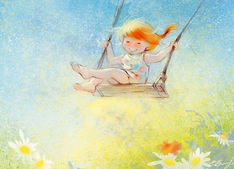 Картинка о детстве нарисованная детьми