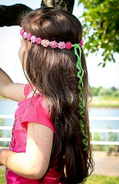 Summer Girl Crocheted Headband Pattern By Monika Sirna Bandana