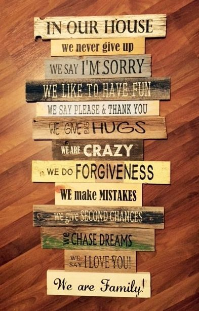 New Family Rules In Our House House Rules Sign By