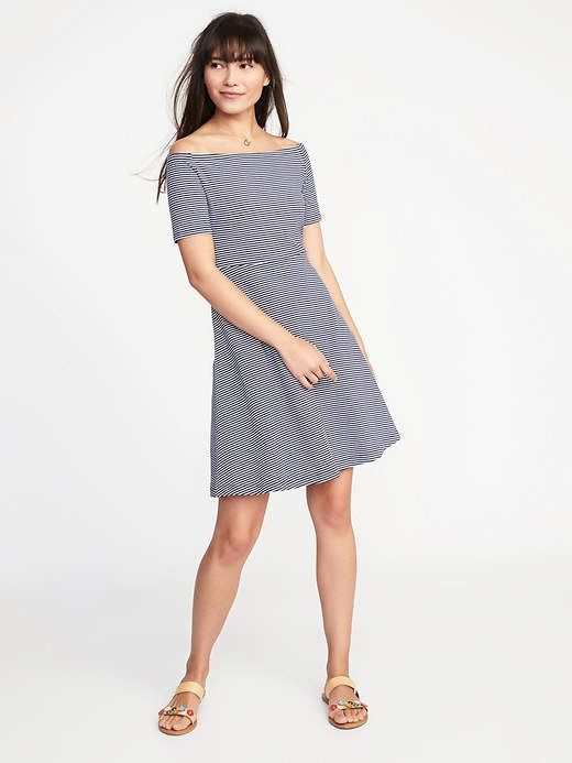 d3e5bf298ac Old Navy Fit   Flare Off-the-Shoulder Dress for Women