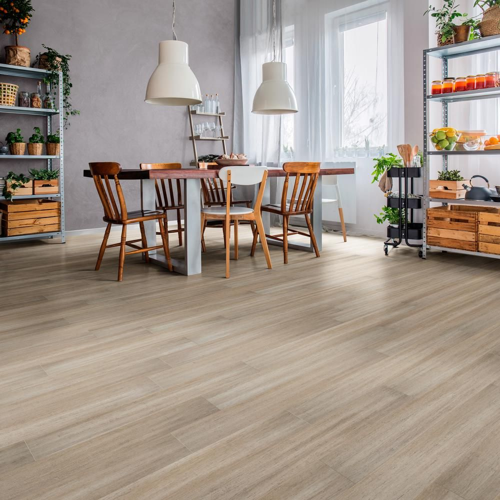 Home Legend Hand Scraped Strand Woven Mojave 7mm T X 5 2 In W X 36 22 In L Click Water Resistant Bamboo F Bamboo Flooring Engineered Bamboo Flooring Flooring