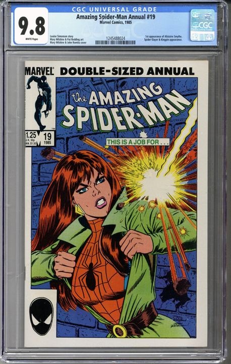 cd91b517 Amazing Spider-Man Annual #19 Spider MJ CGC 9.8 WHITE Pages | Film ...