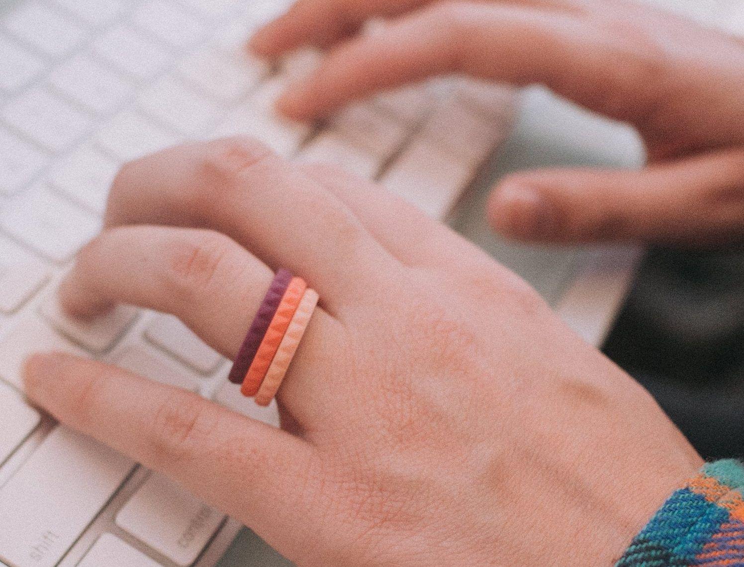 Silicone Wedding Rings | Colorful weddings, Handmade wedding and ...