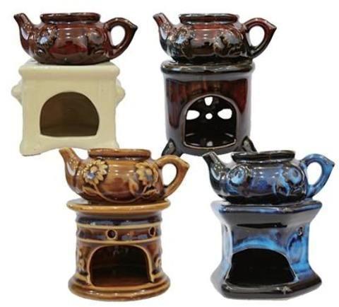 """4.5"""" Tea Pot Oil Burner - Assorted"""