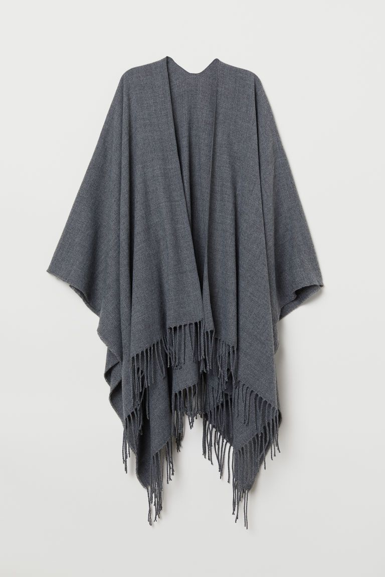 0af86fb35 Woven Poncho with Fringe in 2019 | Sept-5-Real | Winter fashion ...