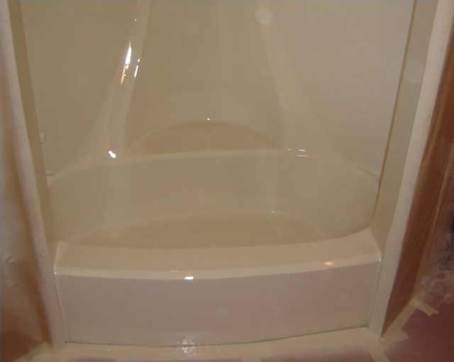 How to Paint a Fiberglass Tub or Shower | projects | Pinterest ...