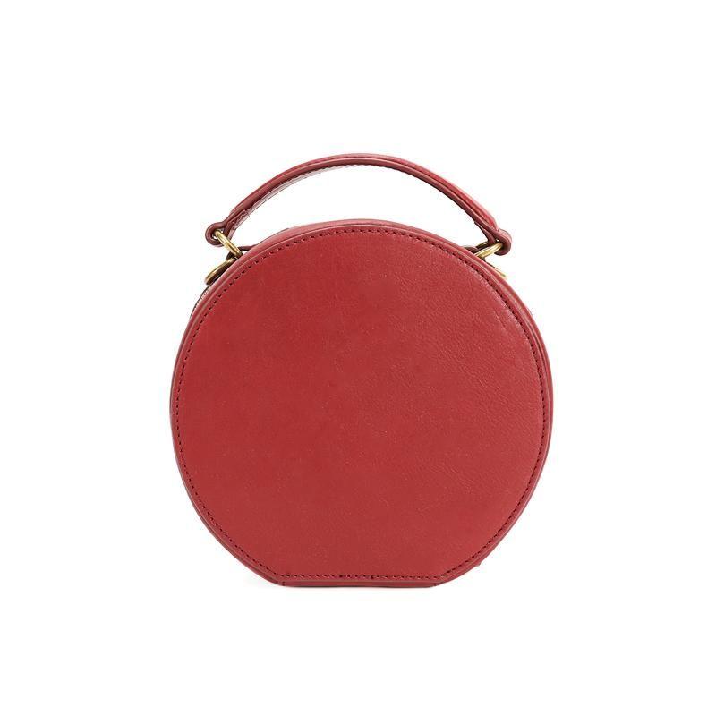 d8b73682b Leahter Brown Circle Bag Circle Purse Crossbody Bag Round Bag Round Pu – Annie  Jewel