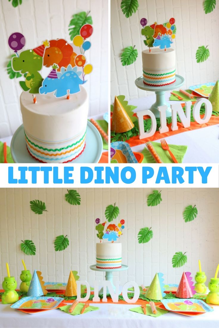 Little Dino Birthday Party Boys Party Ideas Birthday