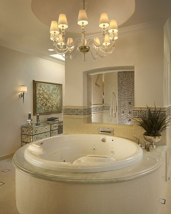 Luxury Dream Home Design At Hualalai By Ownby Design: Master Bath Suite, Luxury Tub, Luxury Bathroom