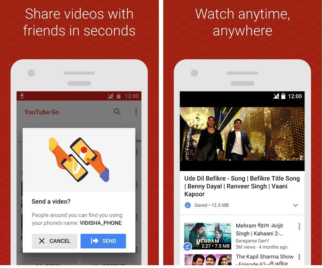 Youtube Go Android app Watch, Download and Share Videos