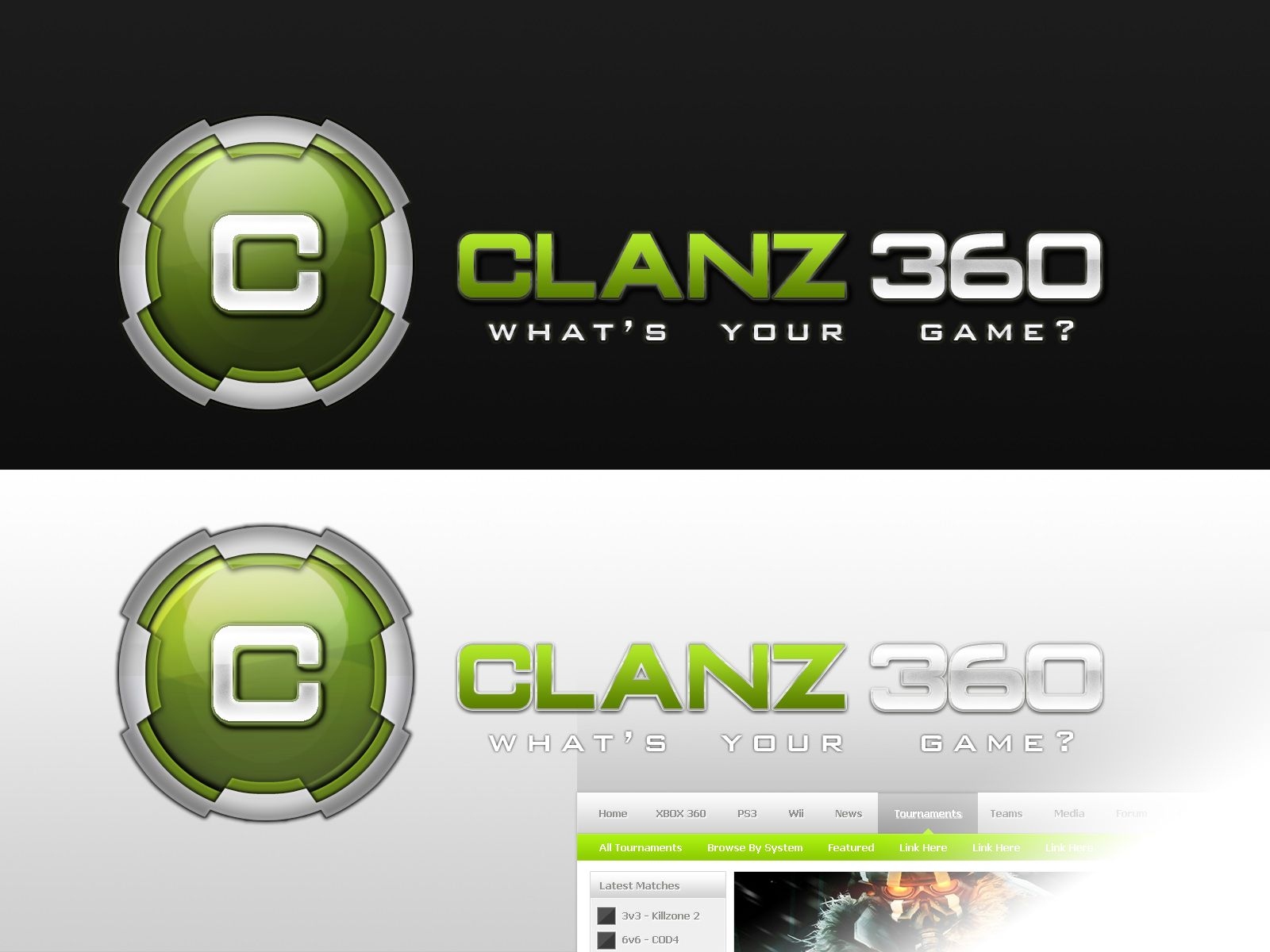 A gaming logo set designed in for Xbox