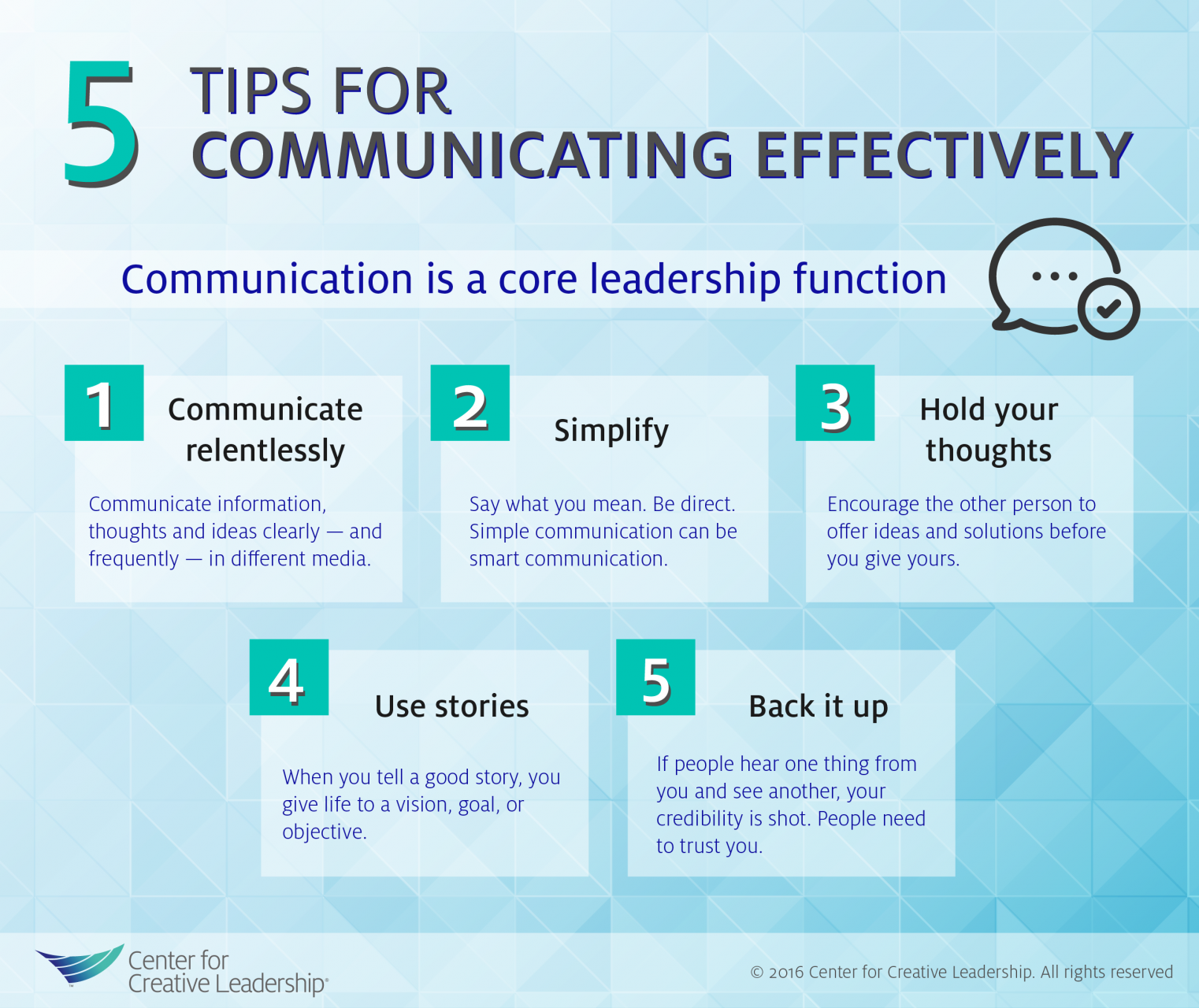 Infographic 5 Tips For Communicating Effectively Effective Communication Leadership Communication