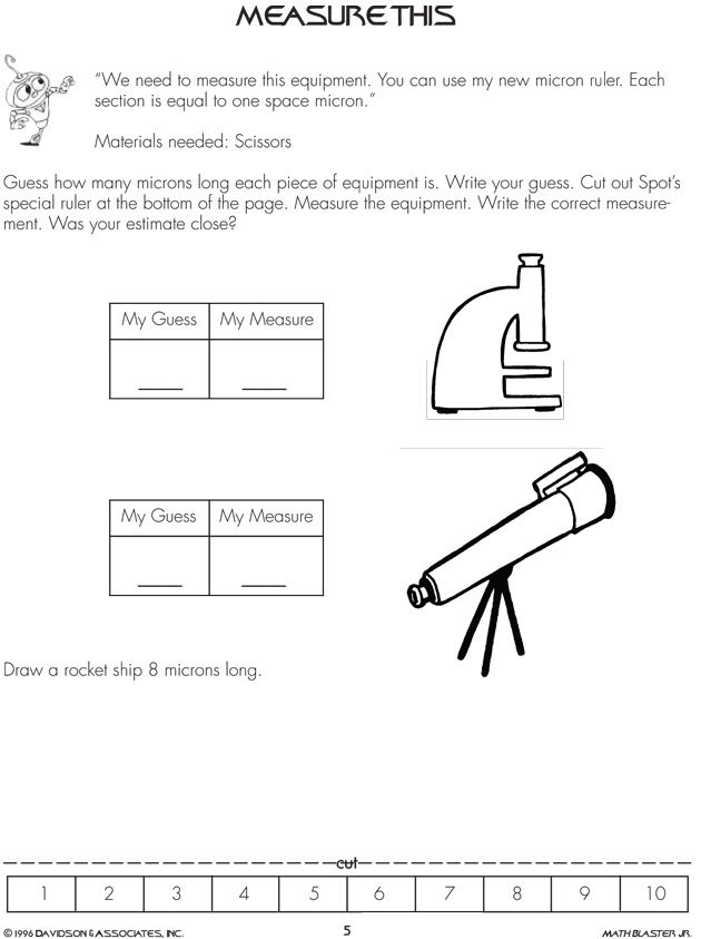 Measure This 1st Grade Math Worksheet On Measurements Jumpstart Kids Math Worksheets Free Math Worksheets Fun Math Worksheets Measurement estimation worksheets
