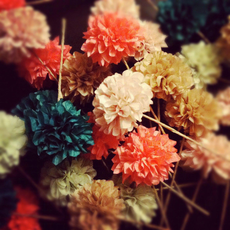 Diy Pom Flowers 6 Count Wedding Decorations Birthday Party