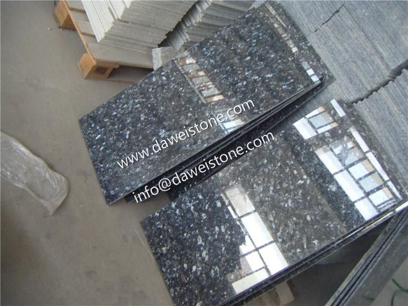 18 X 31 Polished Granite Tile In Blue Pearl Ceramic Floor Tiles Granite Monuments Granite Granite Tile