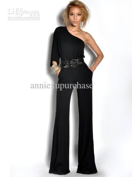 Long Pants Romper Fashion Women Spring Summer One Shoulder Long