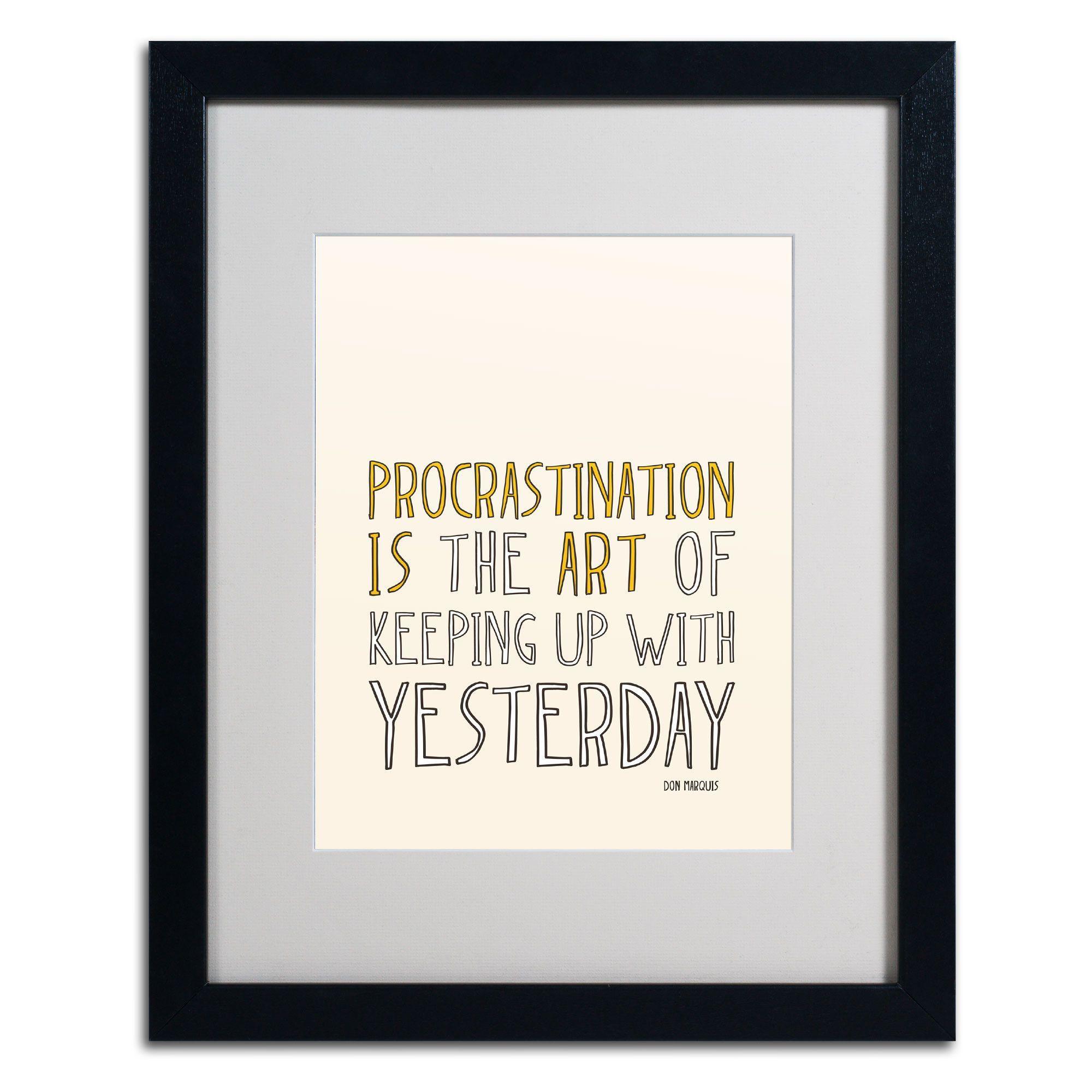 Artistic Procrastination II by Megan Romo Matted Framed Textual Art