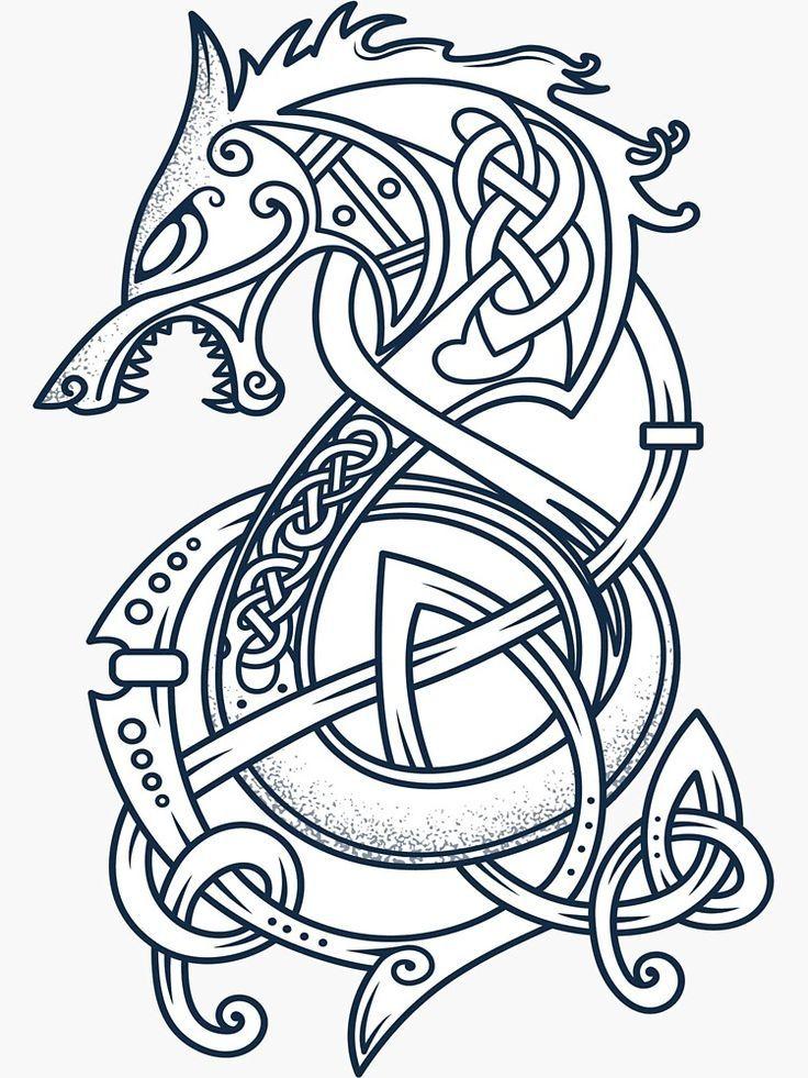 Thors Hammer Mjolnir Tattoo Vorlage Wikinger