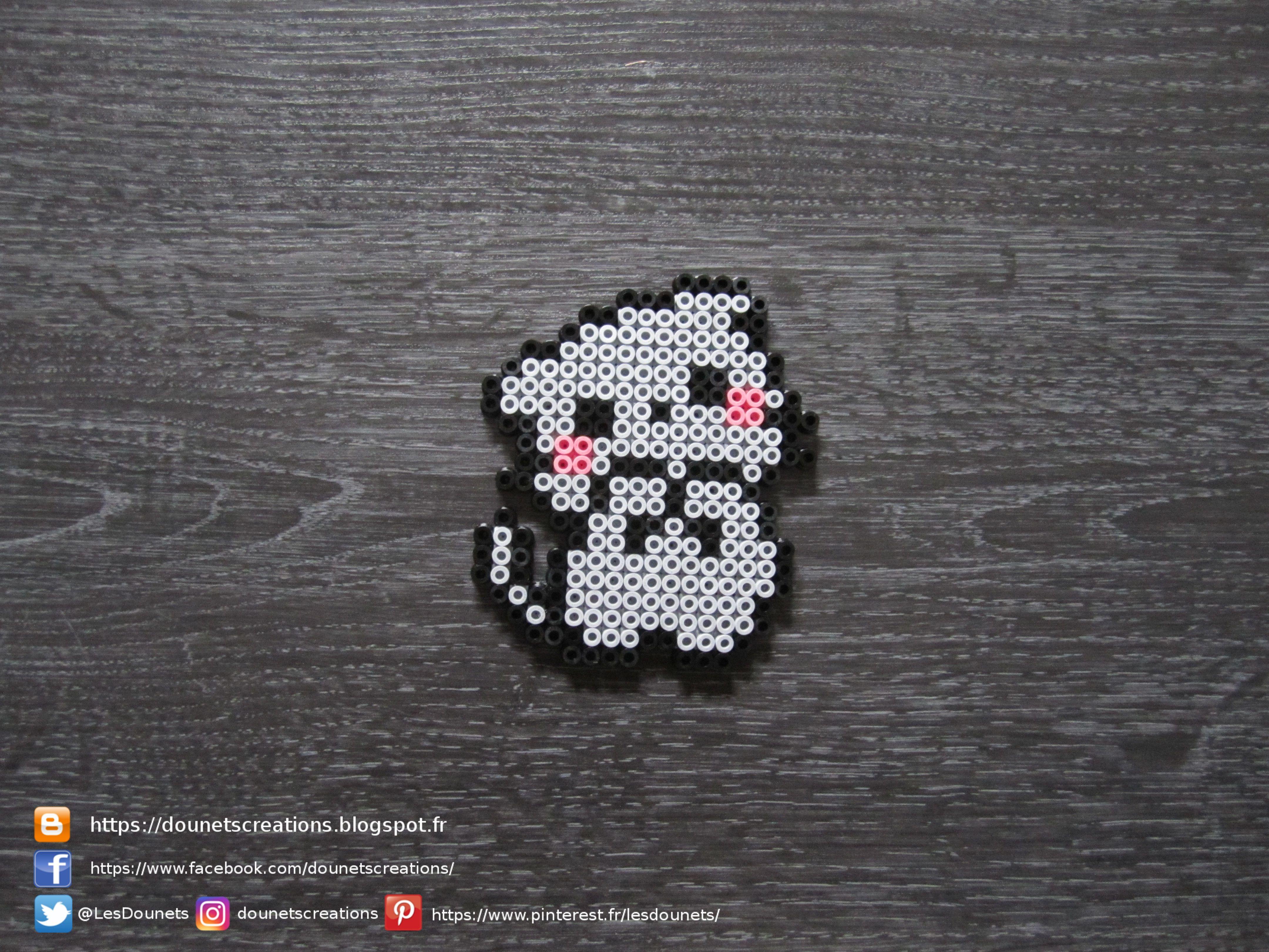 Chaton Kawaii Perles Hama Kawaii Kitten Perler Beads