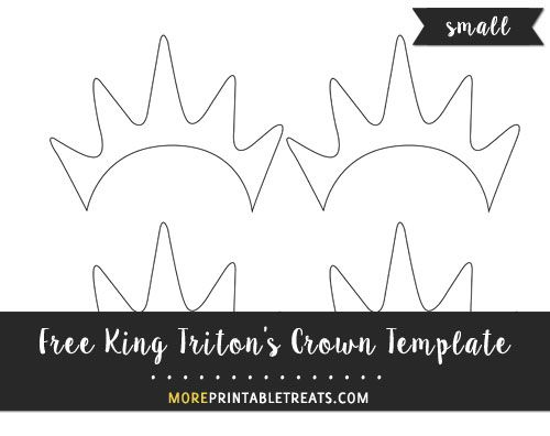 Free King Triton's Crown Template - Small Size