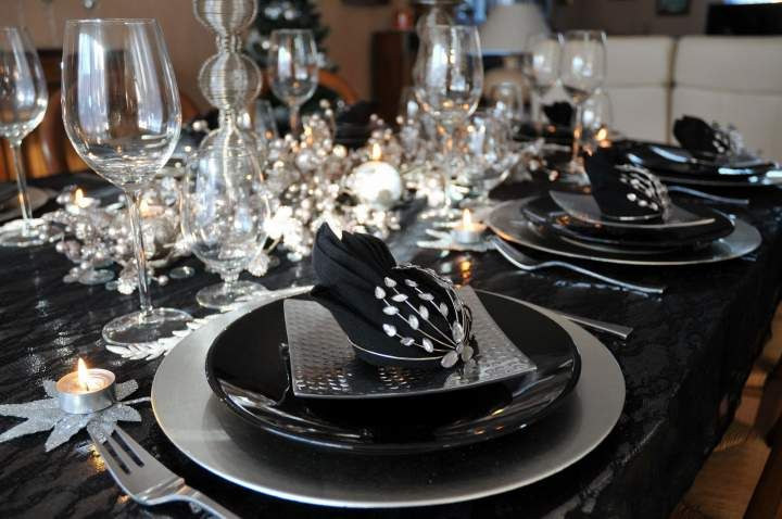 Deco De Table Noir Et Argent