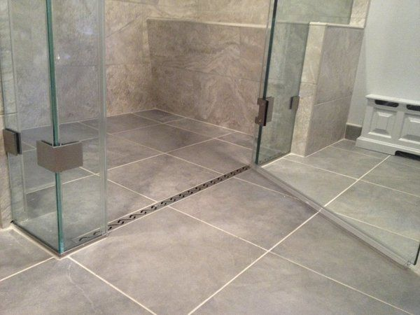 Curbless Shower Designs Best Curbless Shower Linear Drain Walk In Shower  Ideas Modern Bathroom . Review