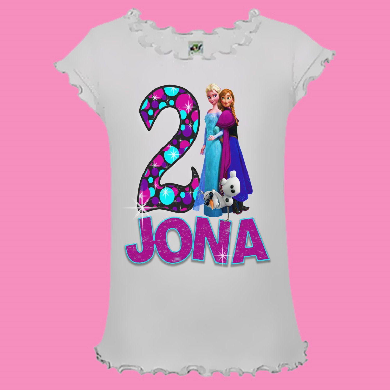 Disney Frozen Birthday Shirt Polka Dot Design by