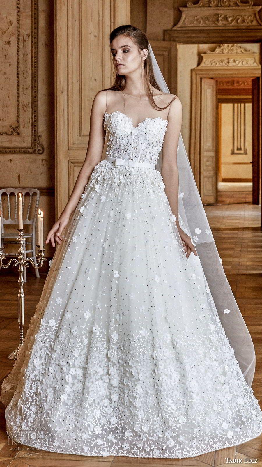 Tarik Ediz White 2017 Wedding Dresses | Wedding dress, Romantic and ...