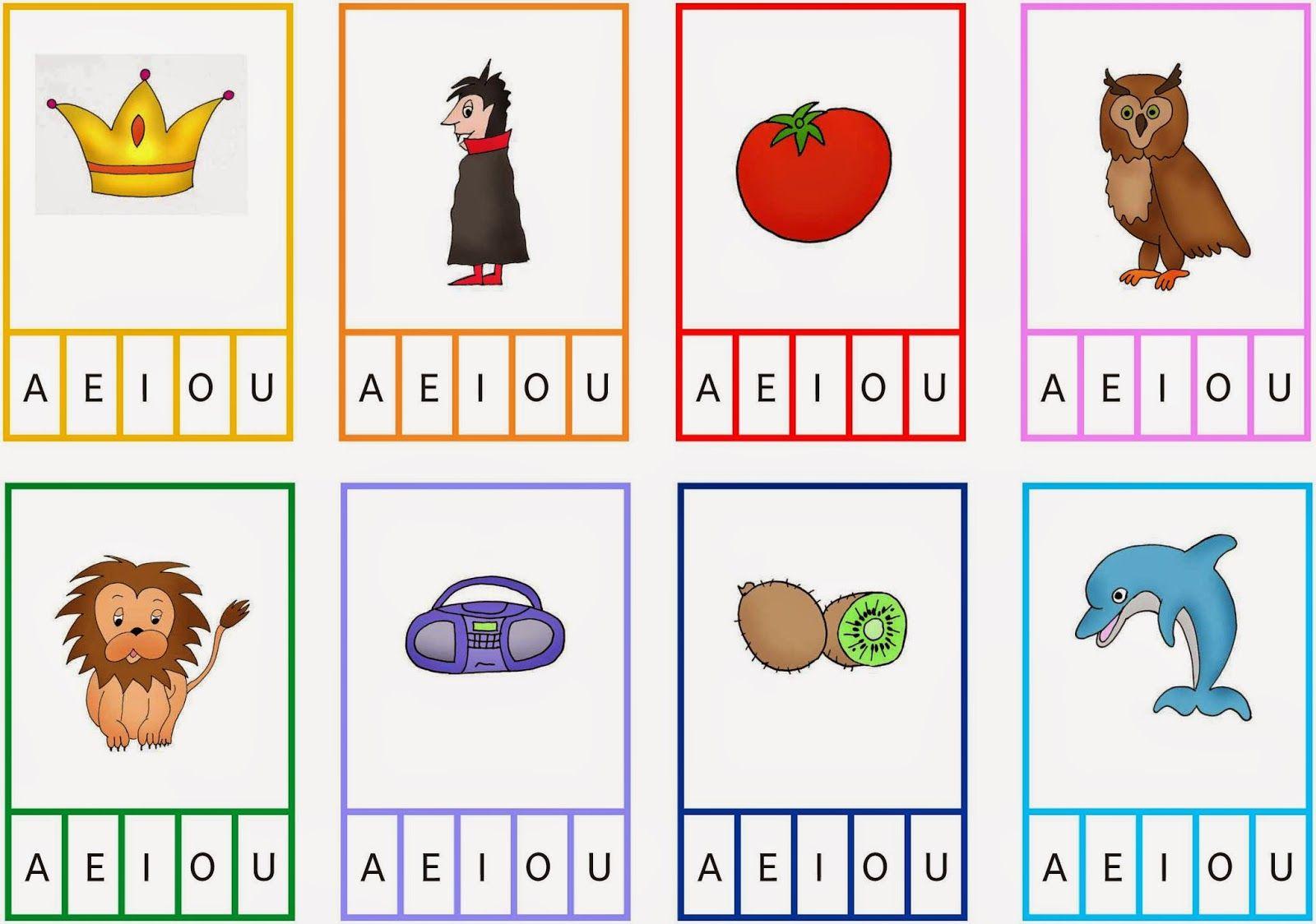 Bildkarten Zum Abhoren Der Vokale
