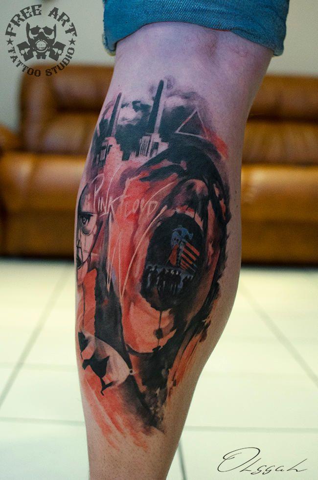 George Floyd Tattoo: Pink Floyd Music, Pink Floyd
