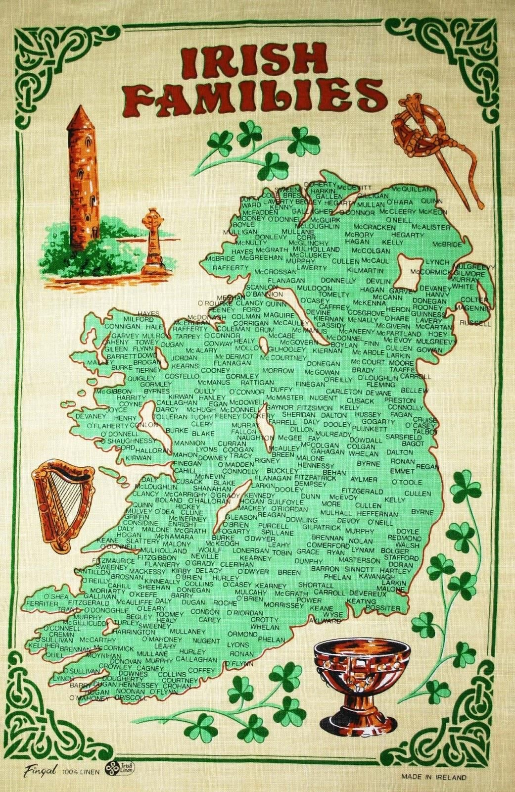 Ireland: Family Names: Ireland of a Thousand Welcomes on