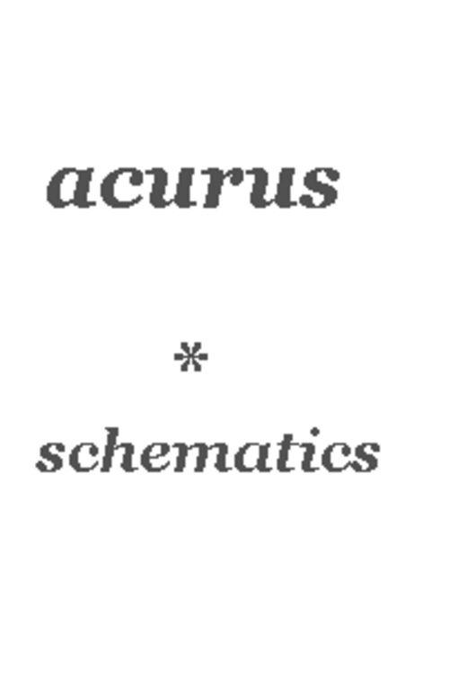 acurus act 3 original schematics for service repair hi end