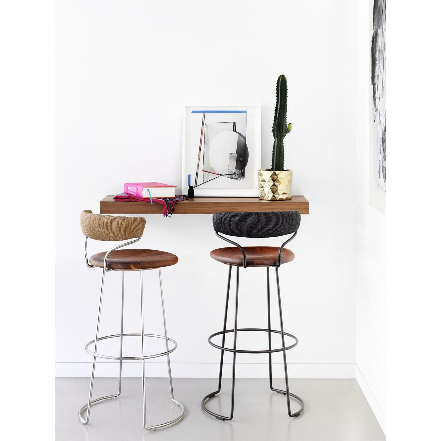 Buy Danish Cord Swivel Bar Stool By Mcguire Furniture
