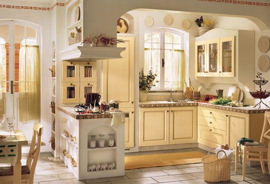 Risultati immagini per arredamento cucina provenzale rosso - Idee imbiancare casa ...