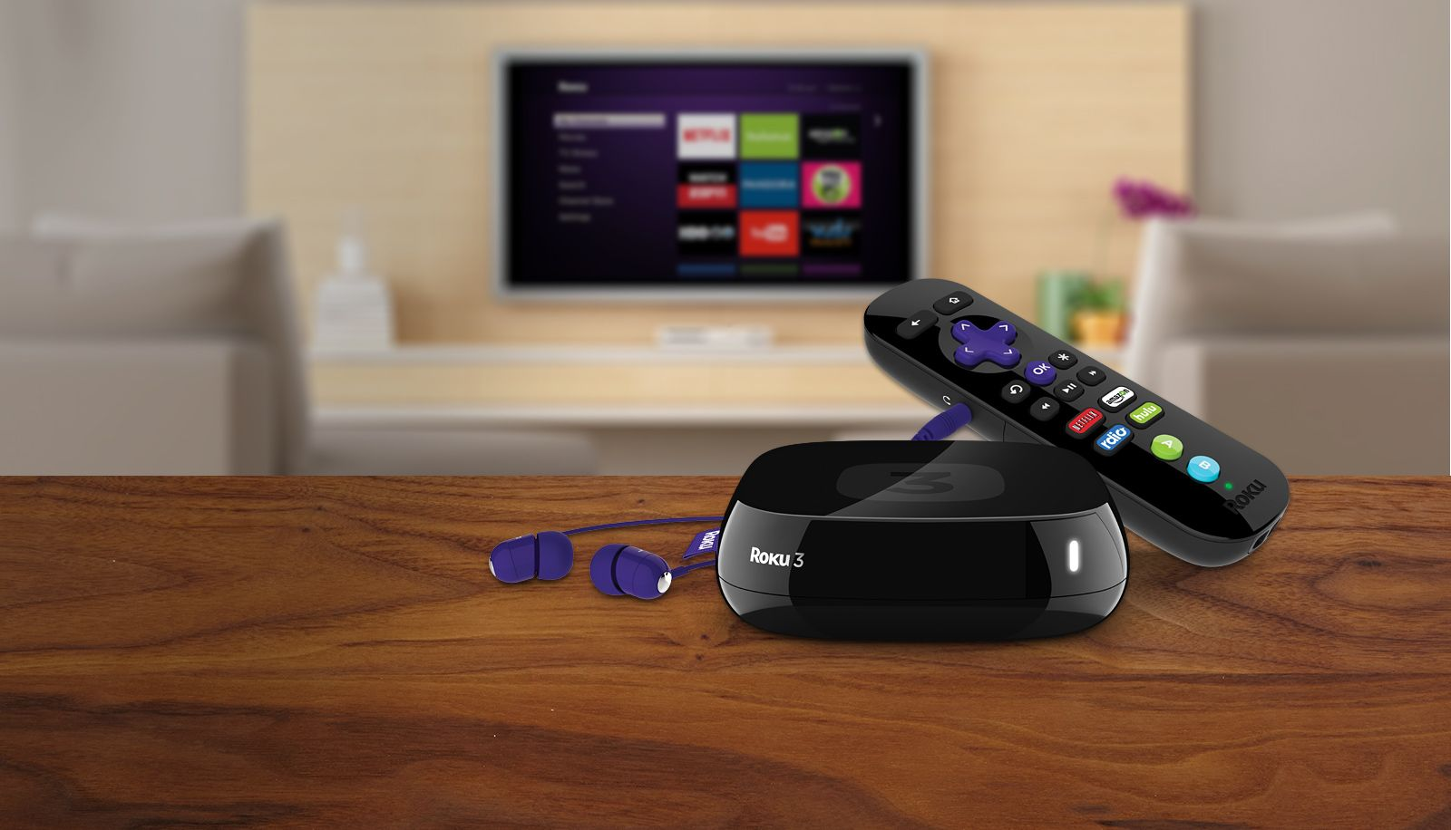 Roku 3 - I hate to say it because I'm a huge Apple fan, but this Roku 3 is far superior to Apple TV.  Absolutely love it.