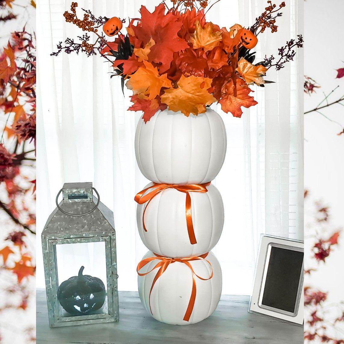 Plastic pumpkins Decor   Fall decor diy, Plastic pumpkins ...