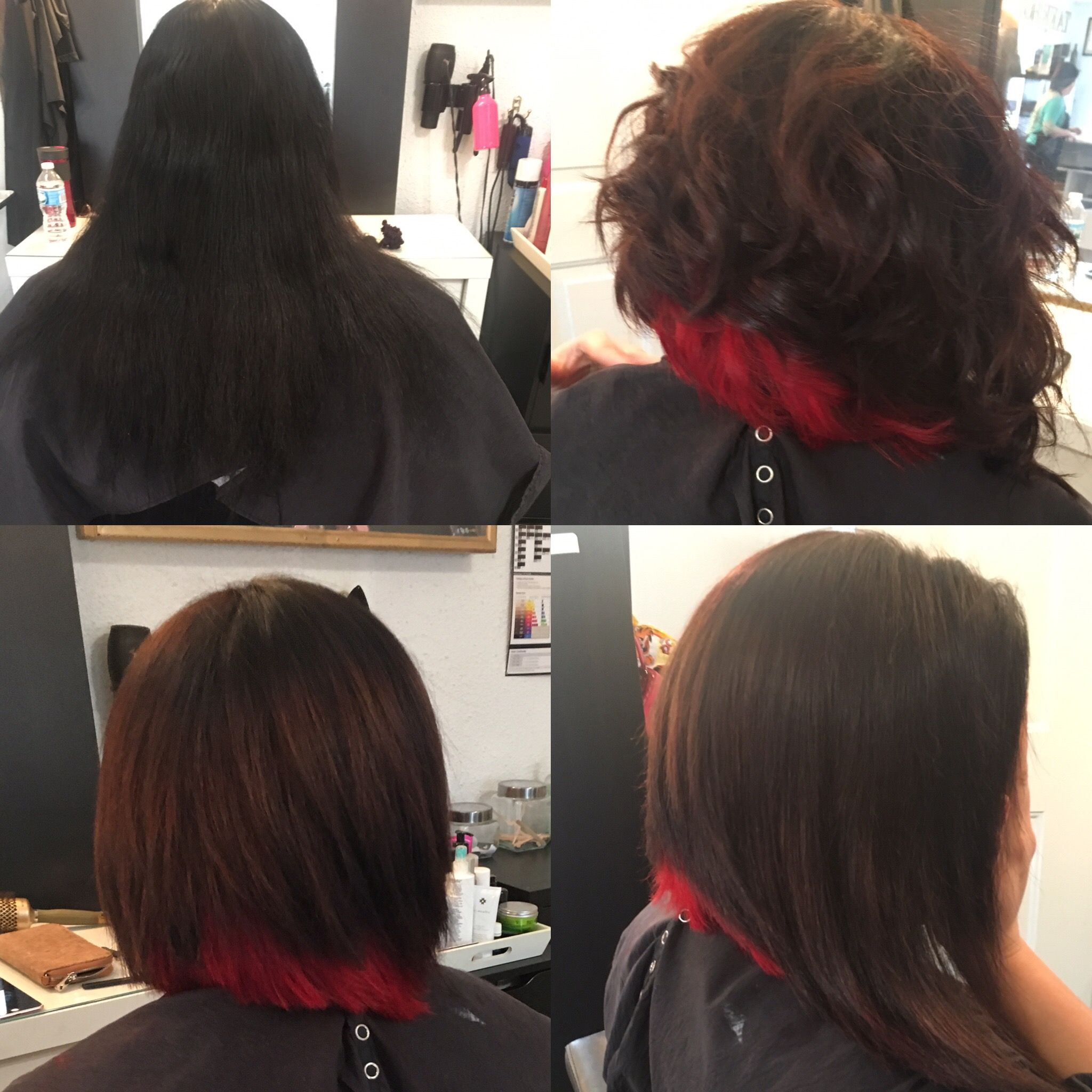 Short haircut with pop of red by jhox book me pinterest