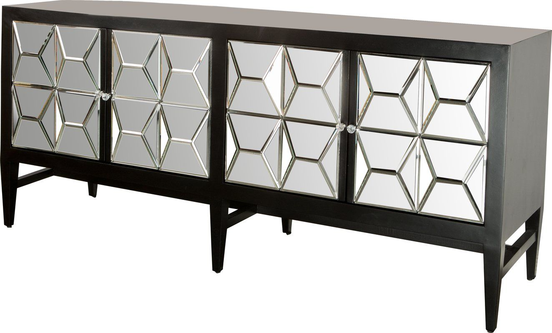 Shania Mirrored Sideboard 32 H X 72 W X 22 D 1200