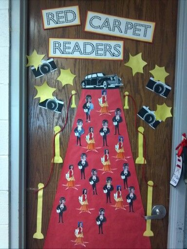 Red Classroom Decor ~ Hollywood theme for the classroom door