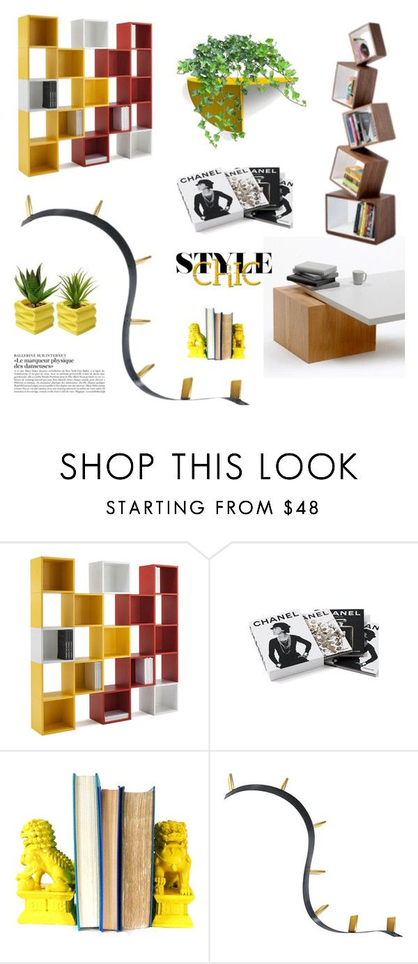 """""""Decorate with Books"""" by fl4u ❤ liked on Polyvore featuring interior, interiors, interior design, home, home decor, interior decorating, Chanel, Kartell, modern and homedecor"""