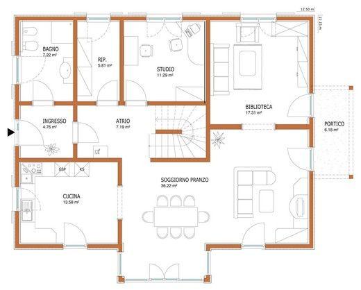 Wolf haus case prefabbricate belvedere 251 casa di for Piani casa due storia avvolgente portico