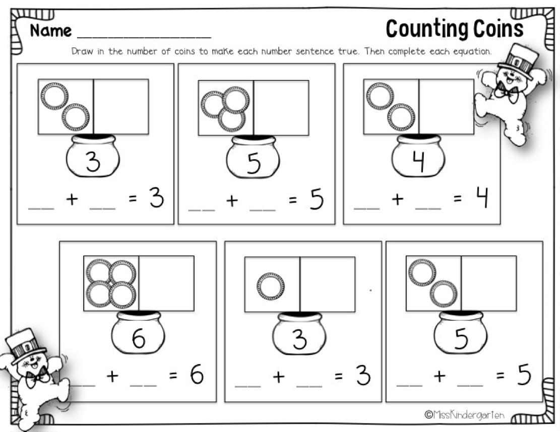 spring | Fun math, Math and Counting coins