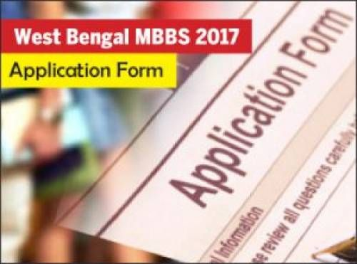 West Bengal MBBS Application Form 2017 will after NEET Result - application form