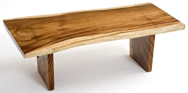 Natural Slab Wood Coffee Table Organic Furniture Decor