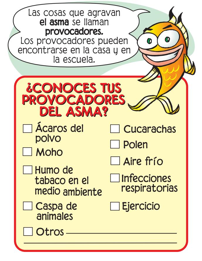 ¿Conoces tus provocadores del asma? Conoce y evita los provocadores.  Revista De Muñequitos